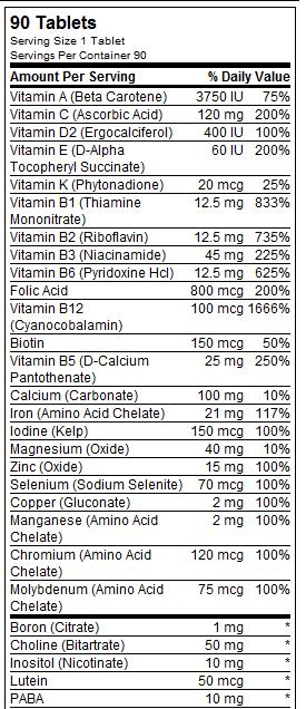 Vegan Prenatal Multivitaminico Amp Minerales 90 Capsulas